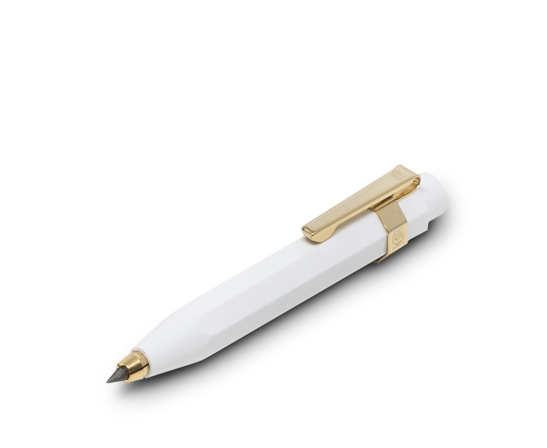 Kaweco Classic 3.2mm Pencil in White. Kaweco. Compendium Design Store. AfterPay, ZipPay accepted.