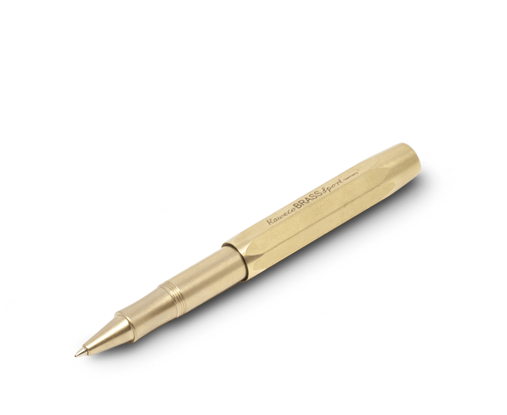 Kaweco Brass Sport Rollerball. Compendium Design Store, Fremantle. AfterPay, ZipPay accepted.