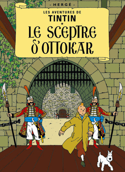 The Adventures of Tintin: Le Sceptre D'Ottokar Poster in French. 50x70cm. Compendium Design Store, Fremantle. AfterPay, ZipPay accepted.