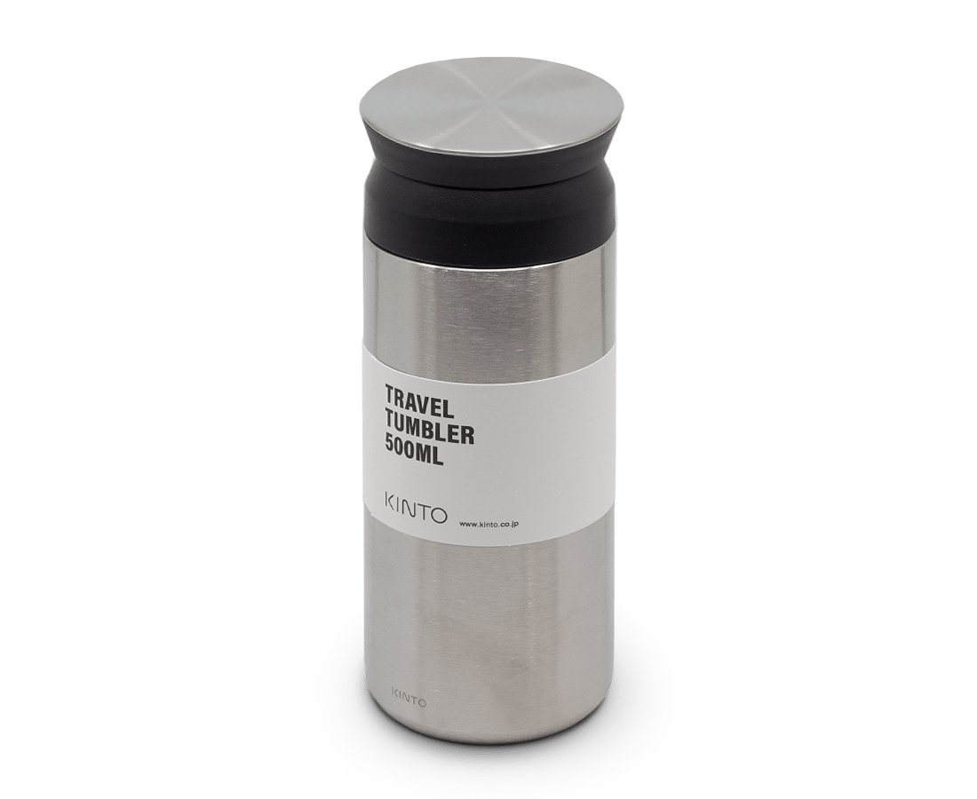 Travel Tumbler 500ml in Stainless Steel. Compendium Design Store, Fremantle. AfterPay, ZipPay accepted.