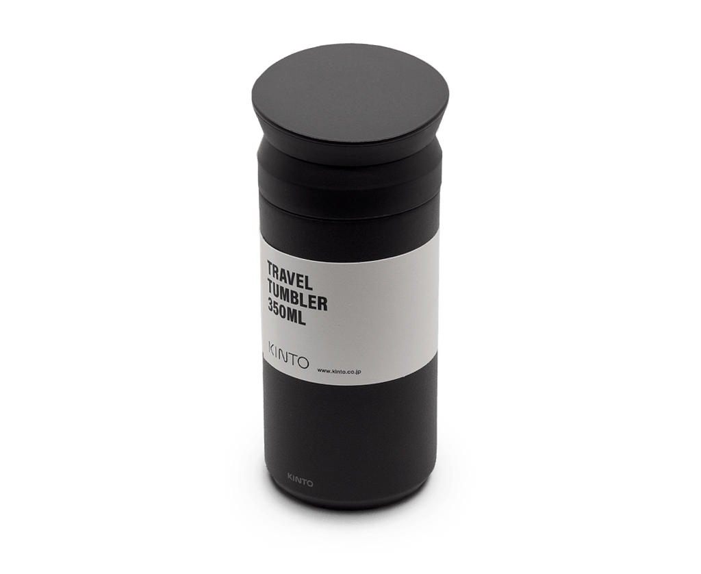 Travel Tumbler 350ml in Black. Compendium Design Store, Fremantle. AfterPay, ZipPay accepted.