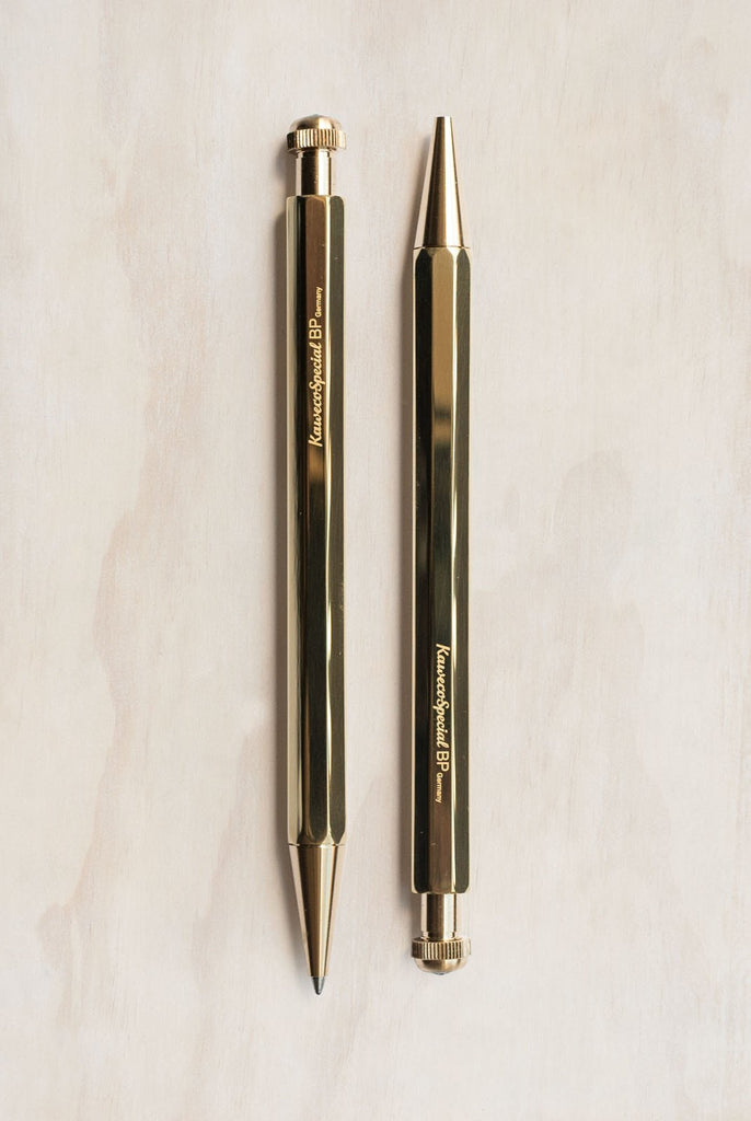Kaweco Special Ballpoint Pen in Brass. Compendium Design Store, Fremantle. AfterPay, ZipPay accepted.