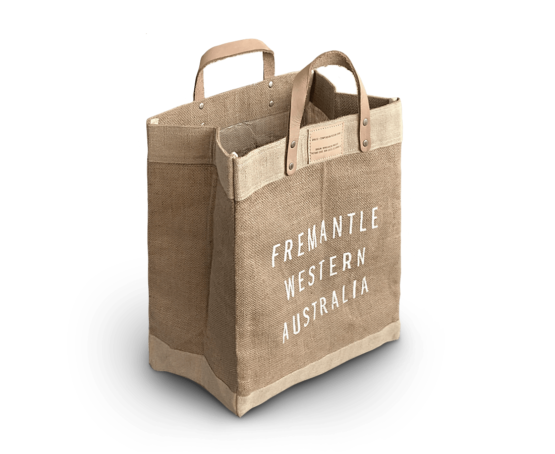 Fremantle Market Tote Bag. Compendium Design Store, Fremantle. AfterPay, ZipPay accepted.
