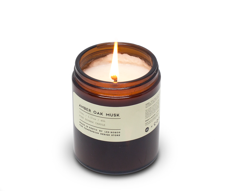 Amber Oak Musk Candle x Les Bobos for C·D·S