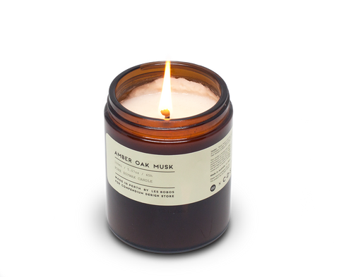 Amber Oak Musk Candle x Les Bobos for C·D·S. Les Bobos, Perth. Compendium Design Store. AfterPay, ZipPay accepted.