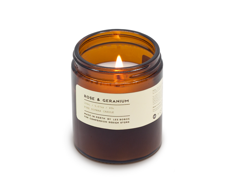 Rose Geranium candle by Les Bobos for C·D·S