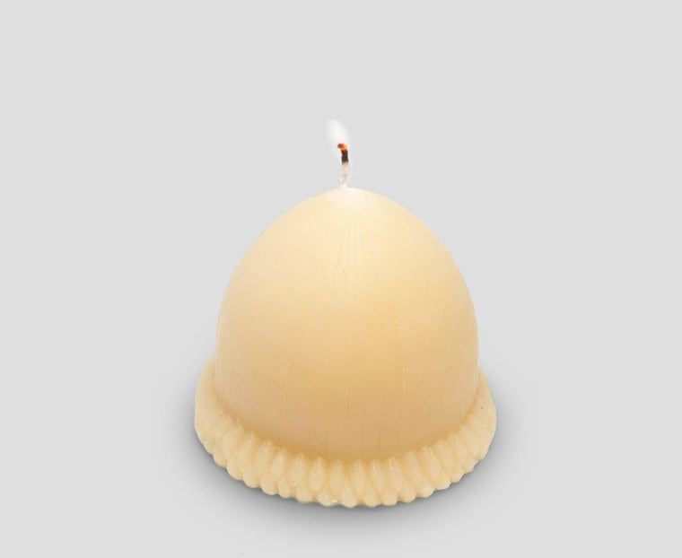 Acorn organic beeswax candle