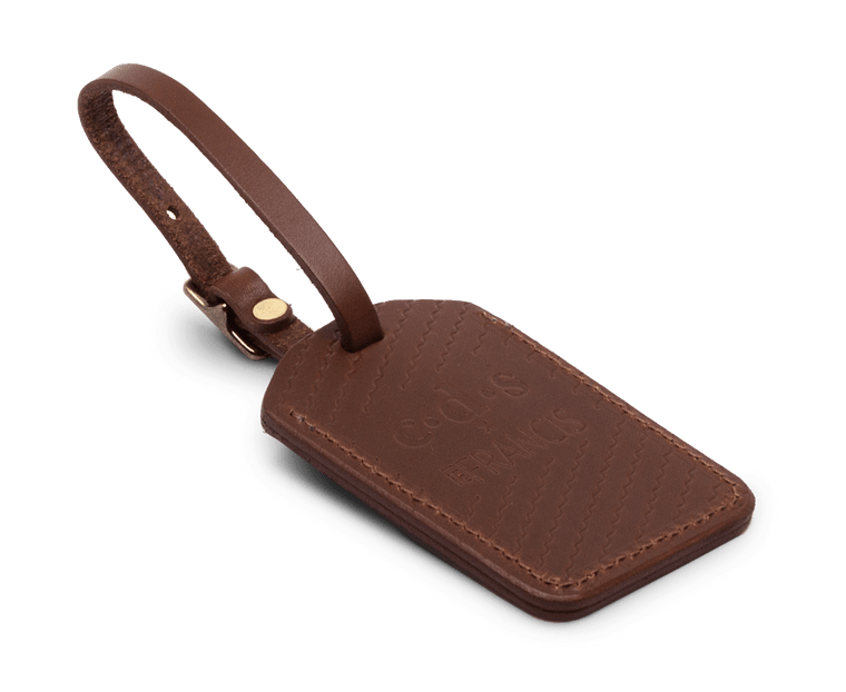 Isaac Francis x C·D·S Luggage Tag Collab in Dark Brown