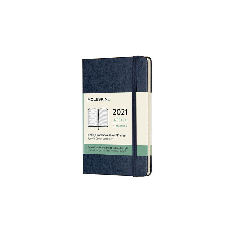 Moleskine 2021 Diary Weekly Notebook Pocket Hardcover Sapphire Blue. Compendium Design Store, Fremantle. AfterPay, ZipPay accepted.