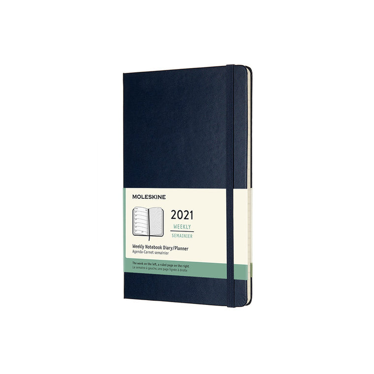 Moleskine 2021 Diary Weekly Notebook Large Hardcover Sapphire Blue