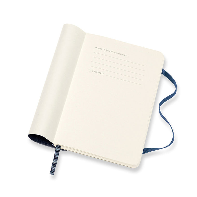 Moleskine 2021 Diary Weekly Notebook Pocket Softcover Sapphire Blue