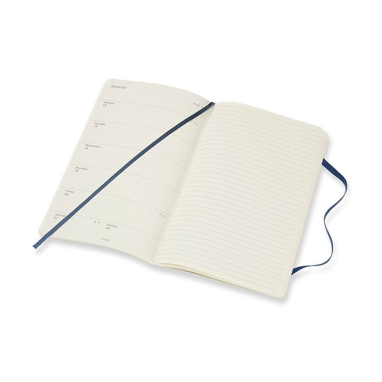 Moleskine 2021 Diary Weekly Notebook Large Softcover Sapphire Blue