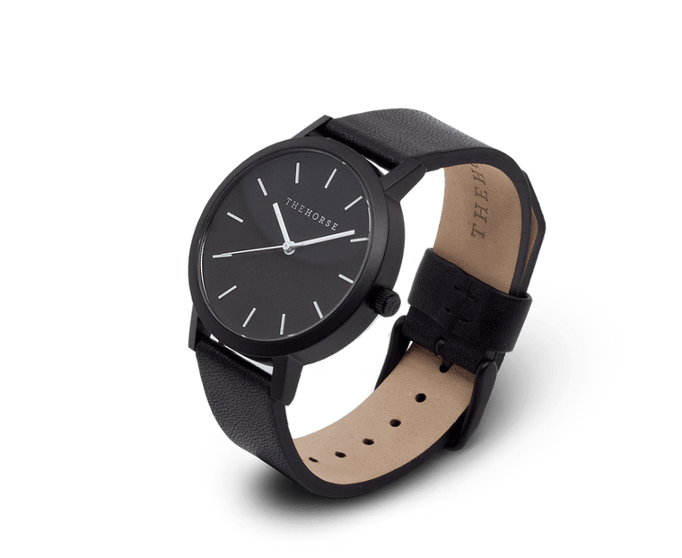 MA6 The Horse Mini Original Watch with Matte Black Case, Black Dial & Black Strap