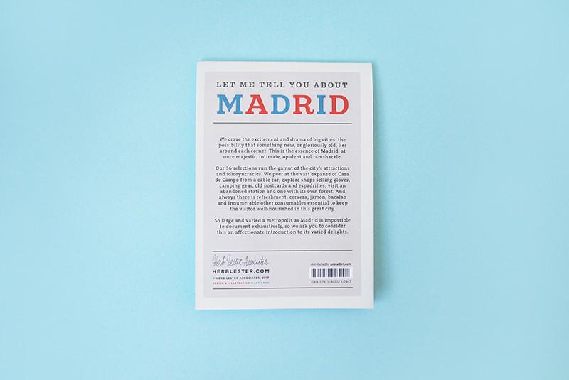 Let me tell you about Madrid. City Guide & Map by Herb Lester. Compendium Design Store, Fremantle. AfterPay, ZipPay accepted.