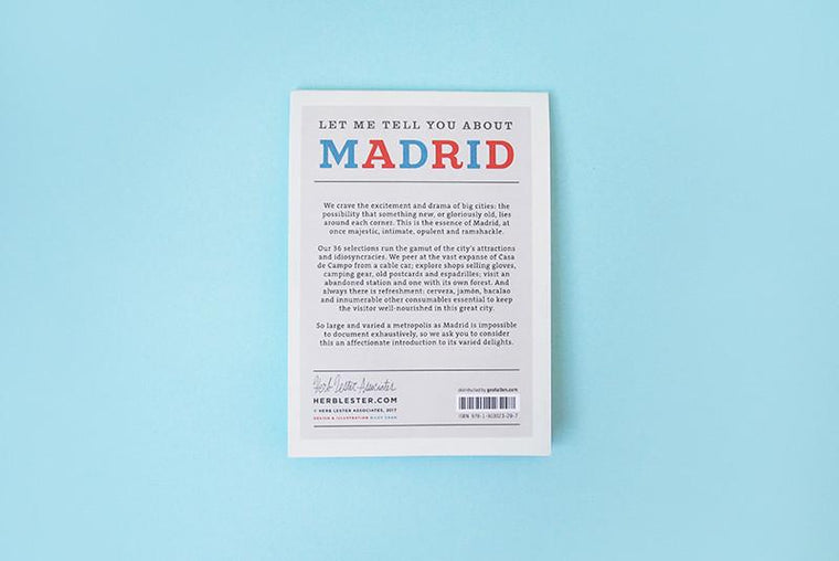 Let me tell you about Madrid. City Guide & Map by Herb Lester. Herb Lester. Compendium Design Store. AfterPay, ZipPay accepted.