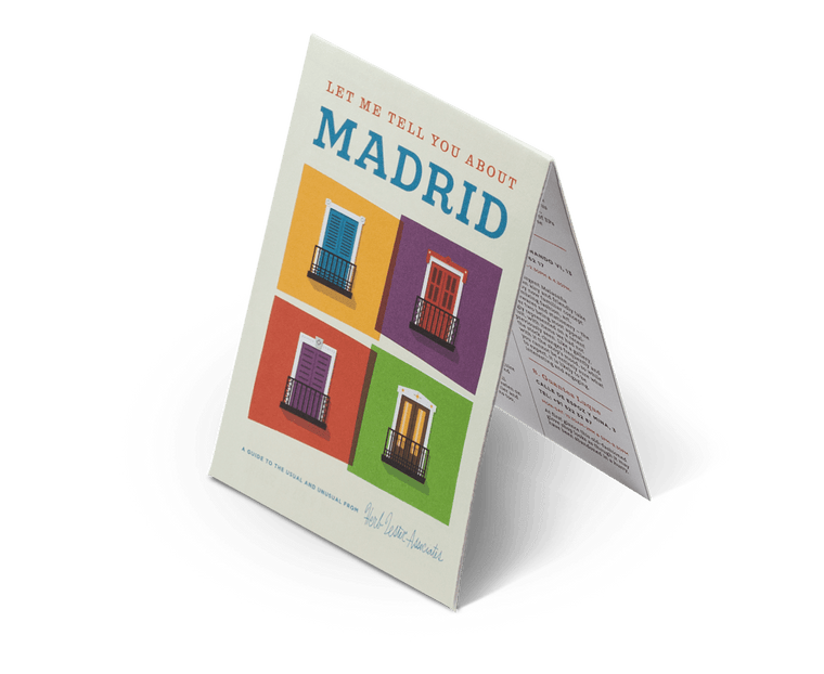 Let me tell you about Madrid. City Guide & Map by Herb Lester