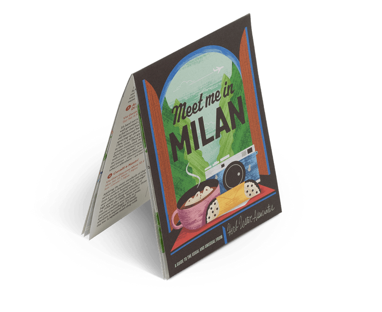 Meet Me In Milan. City Guide & Map by Herb Lester