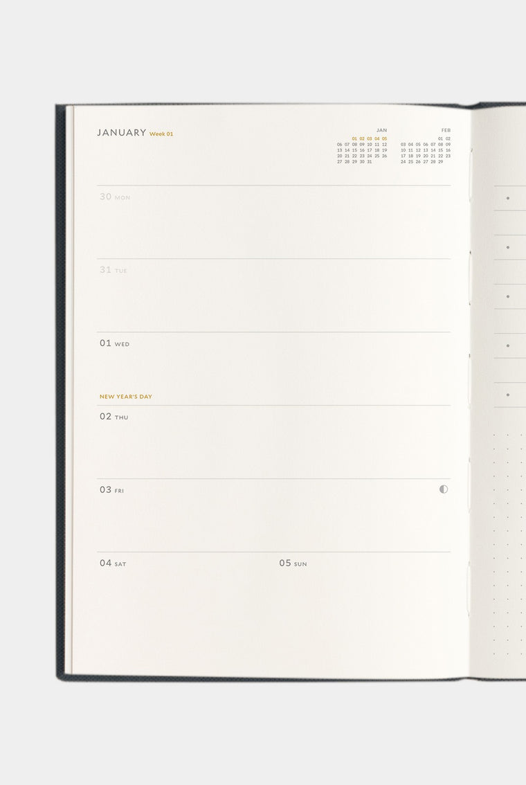 Milligram 2020 Agenda Diary Weekly - B5 Black