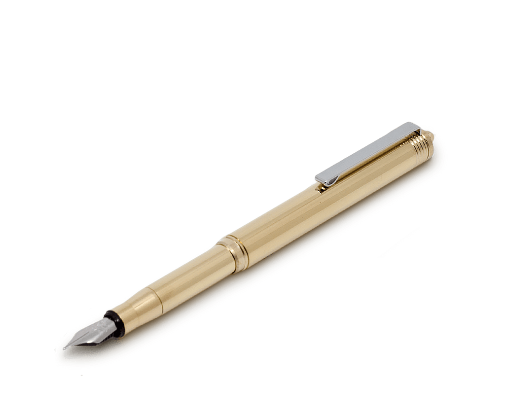 Travelers Company Japan Brass Fountain Pen. Compendium Design Store, Fremantle. AfterPay, ZipPay accepted.