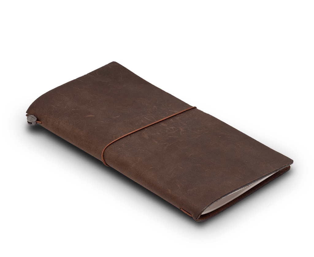 Traveler's Company Japan Leather Notebook. Large Size. Starter Kit Brown