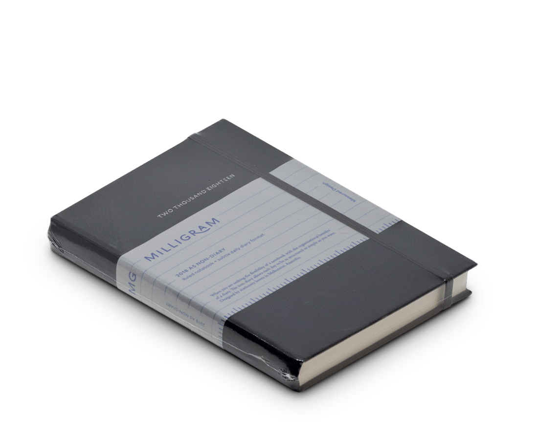 Milligram 2018 Non-Diary Daily Notebook Ruled A5