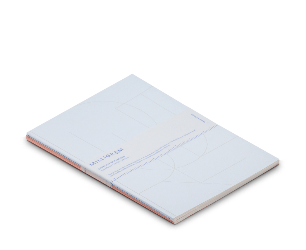Basic A4 Notebook Set of 2 - Peach & Blue. Compendium Design Store, Fremantle. AfterPay, ZipPay accepted.