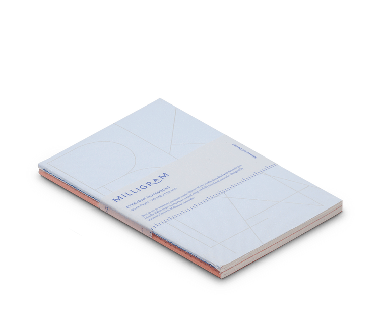 Basic A5 Notebook Set of 2 - Peach & Blue