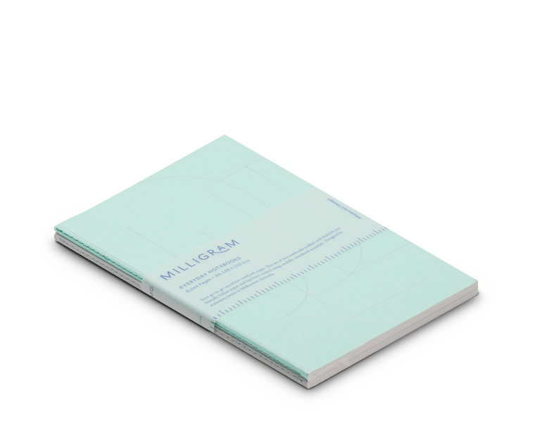 Basic A5 Notebook Set of 2 - Mint & Grey