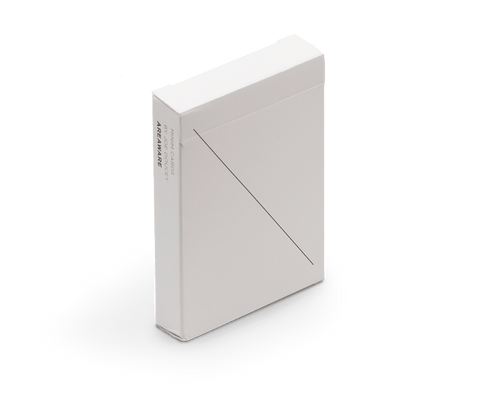 Minimalist Playing Cards in White. Areaware. Compendium Design Store. AfterPay, ZipPay accepted.