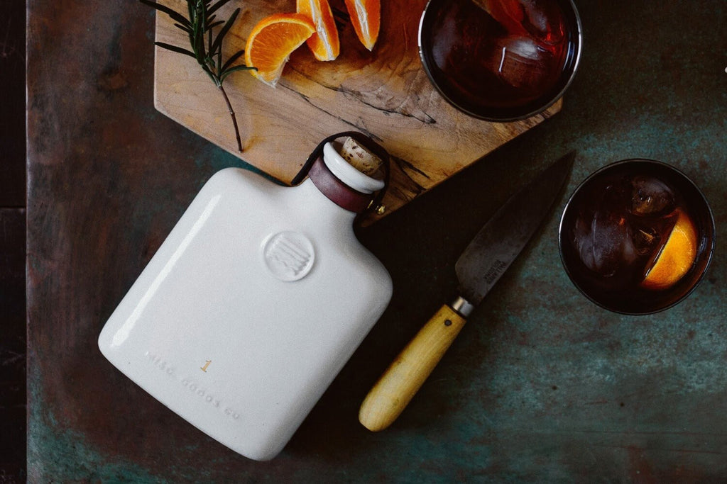 Ceramic Flask in Ivory by Misc Goods Co. USA. Compendium Design Store, Fremantle. AfterPay, ZipPay accepted.