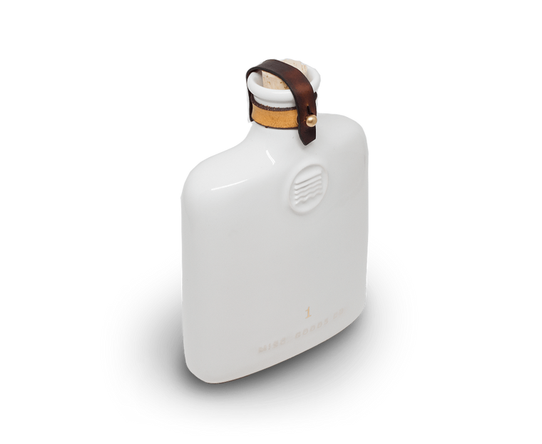 Misc Goods Co. Novelty Ceramic Flask (Ivory) by Misc Goods Co. USA