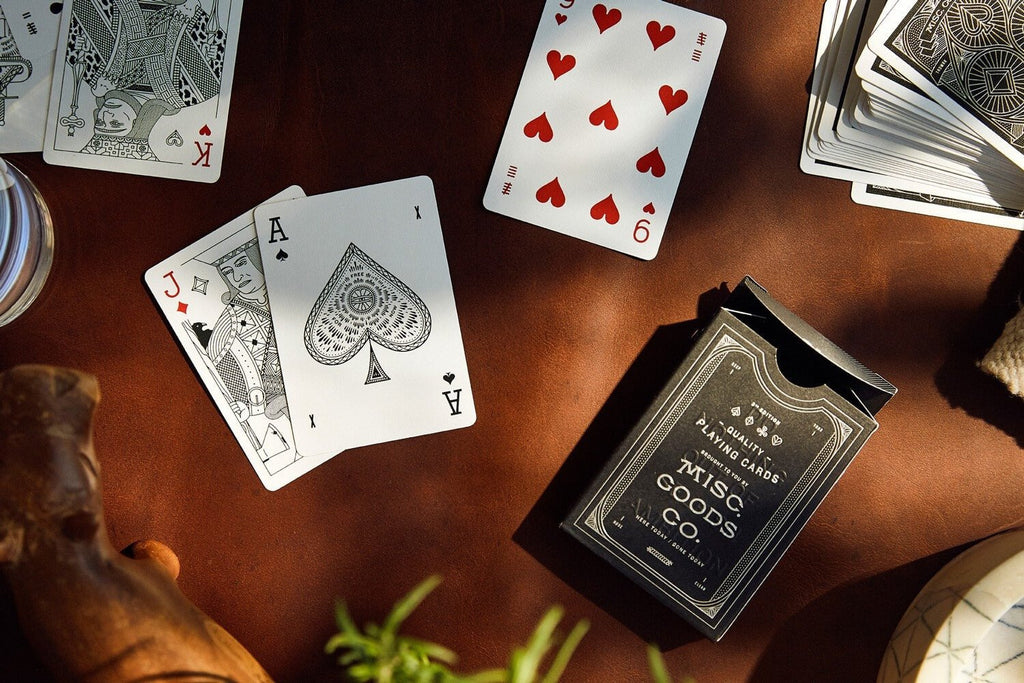 Misc Goods Co. Novelty Playing cards in Black by Misc Goods Co. USA
