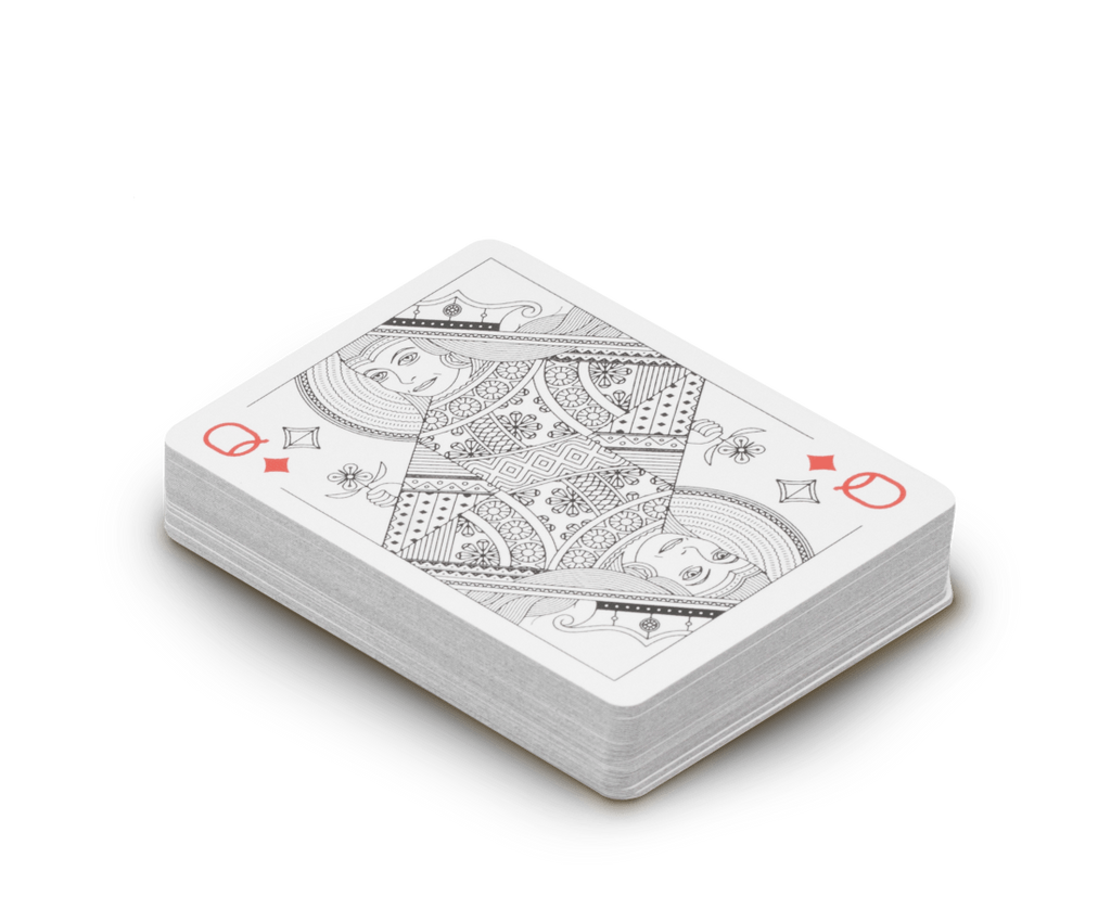 Misc Goods Co. Novelty Playing cards in Ivory by Misc Goods Co. USA
