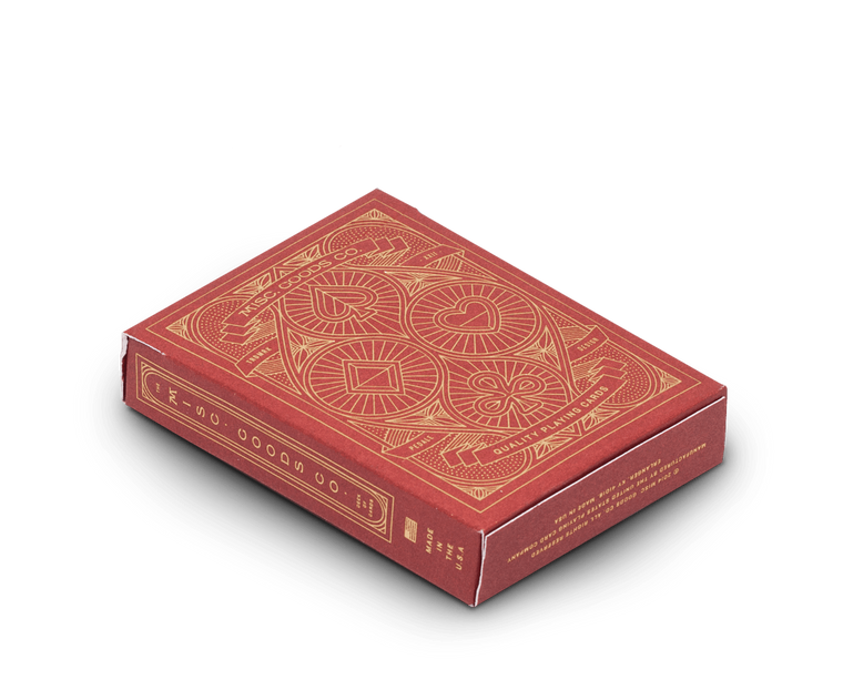 Playing cards in Red by Misc Goods Co. USA