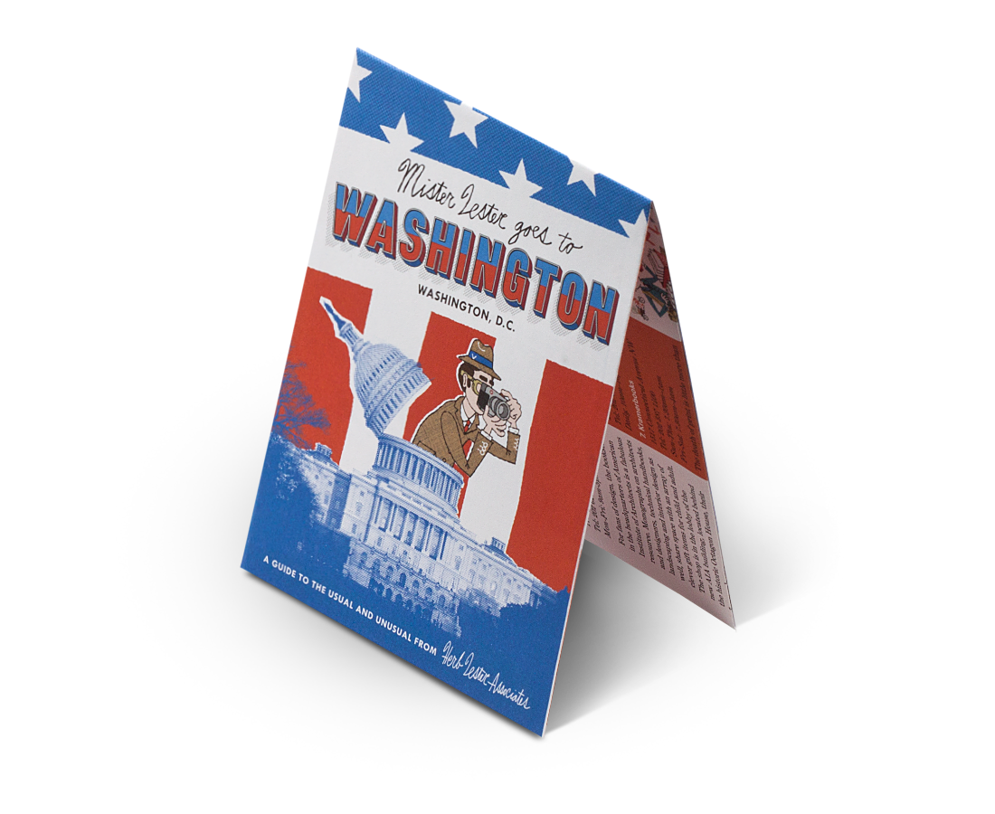 Washington DC: Mr Lester Goes To Washington. City Guide & Map by Herb Lester. Compendium Design Store, Fremantle. AfterPay, ZipPay accepted.