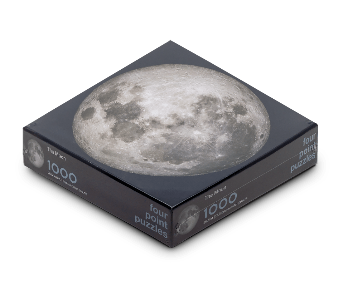 The Moon 1000 Piece Circle Puzzle. Compendium Design Store, Fremantle. AfterPay, ZipPay accepted.