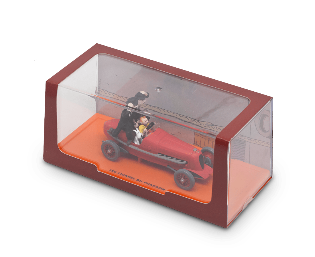 Moulinsart Tintin Boxed car collectable · The 'Bolide Rouge' Car