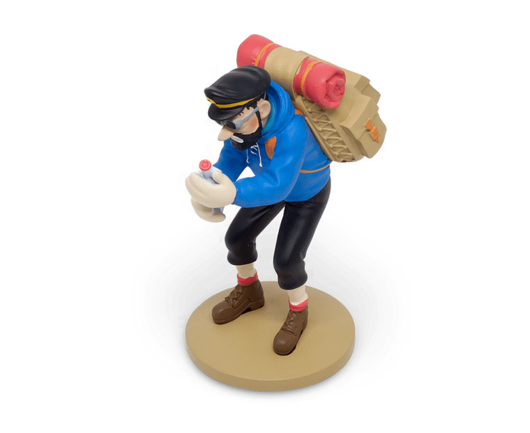 Moulinsart Tintin Captain Haddock with his empty bottle 12cm resin figurine