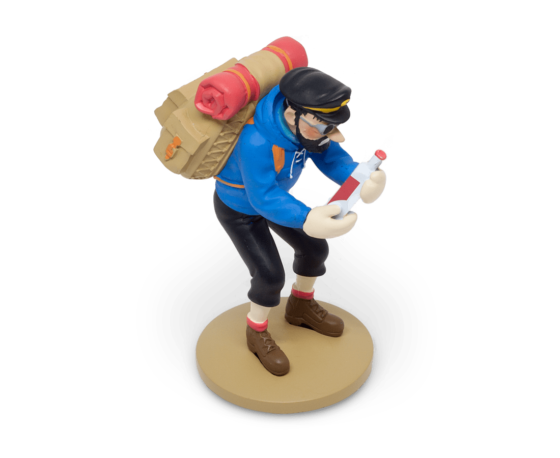 Captain Haddock with his Empty Bottle Resin Figurine. Compendium Design Store, Fremantle. AfterPay, ZipPay accepted.