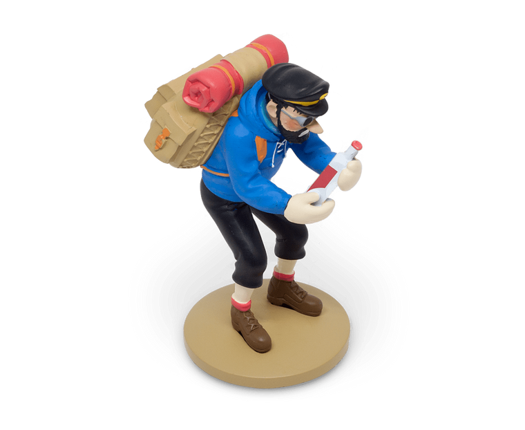Captain Haddock with his Empty Bottle Resin Figurine