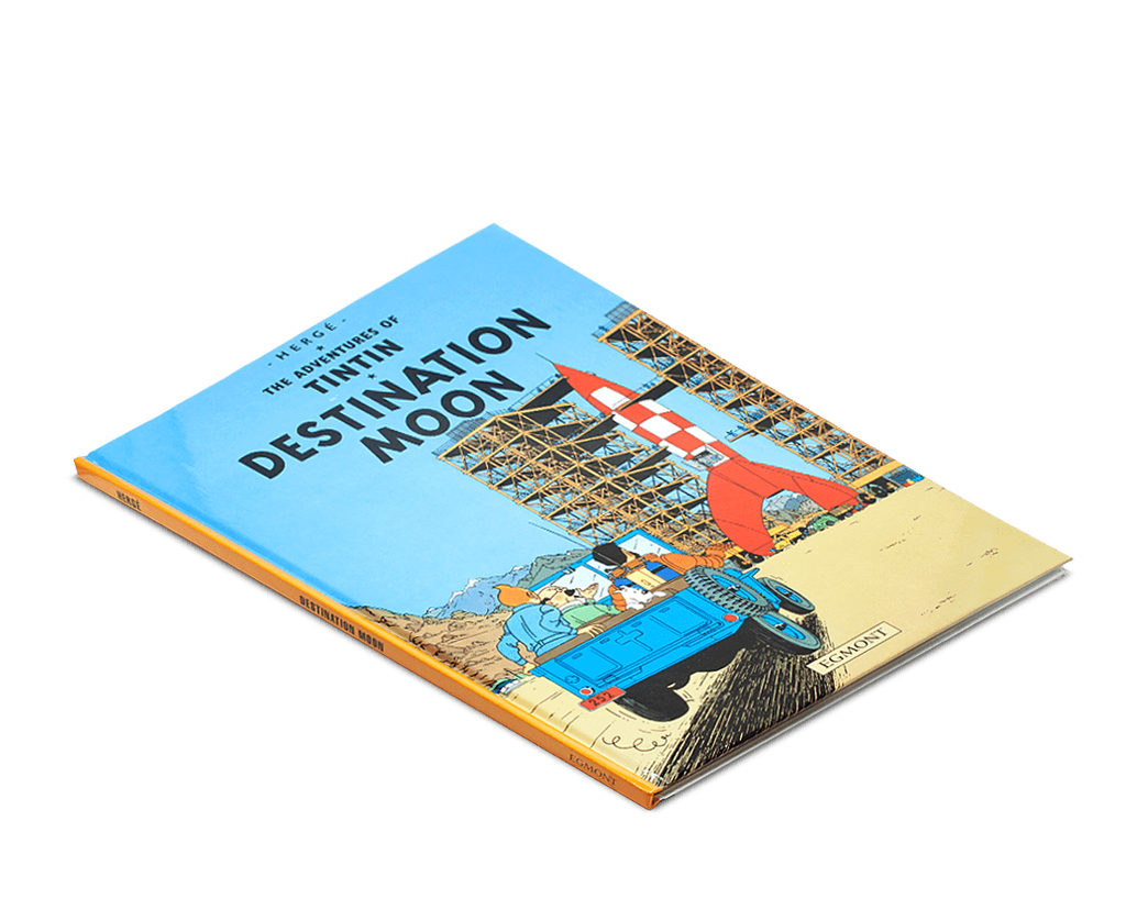 Moulinsart Tintin Hardcover The Adventures of Tintin: Destination Moon