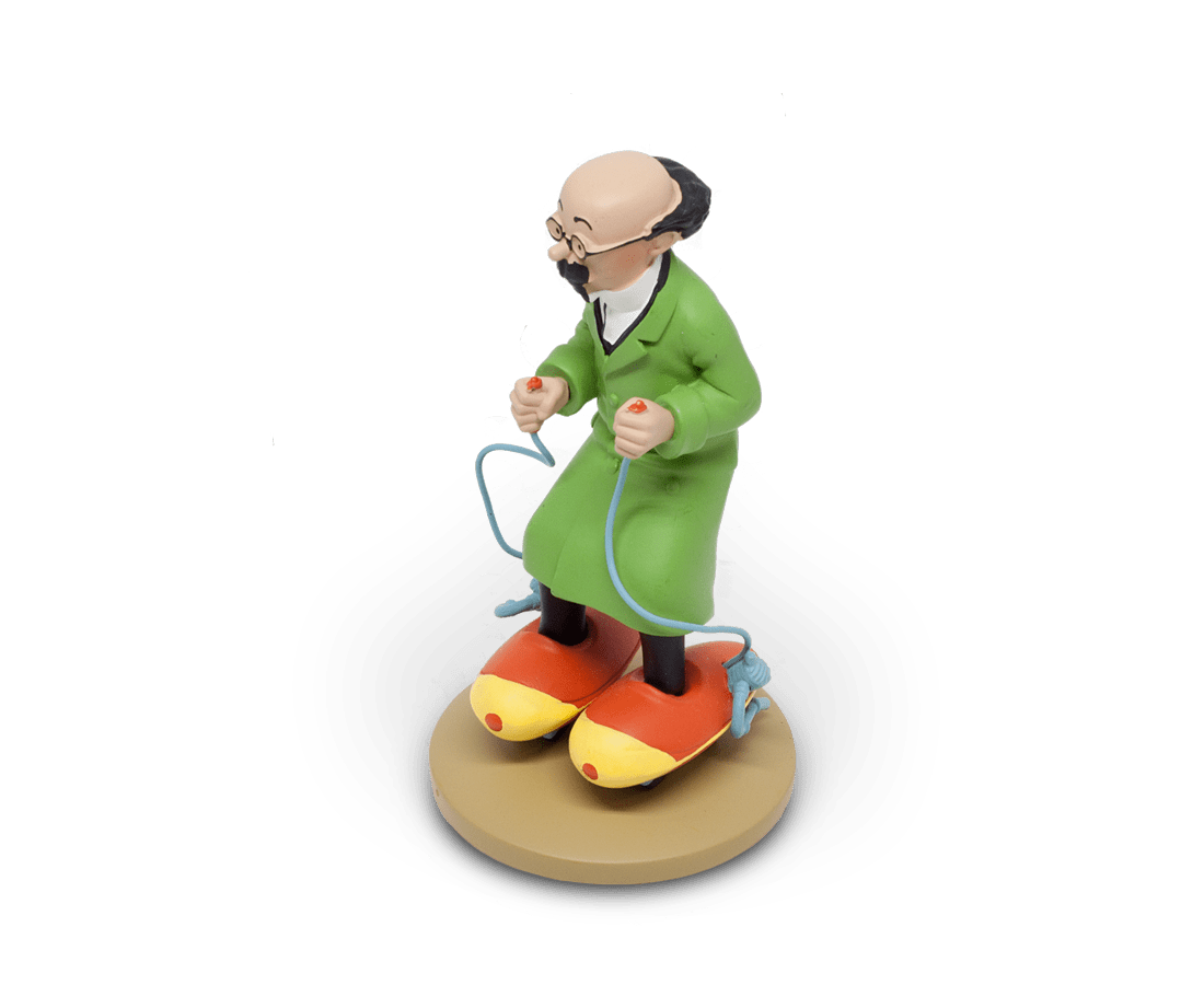 Professor Calculus Roller Skates 12cm Resin Figurine. Compendium Design Store, Fremantle. AfterPay, ZipPay accepted.