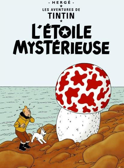 The Adventures of Tintin: L'Étoile Mystérieuse Poster in French. 50x70cm