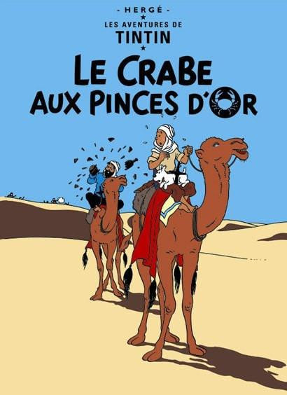 The Adventures of Tintin: Le Crabe aux Pinces D'or Poster in French. 50x70cm