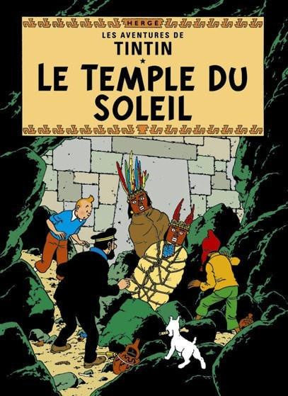 The Adventures of Tintin: Le Temple du Soleil Poster in French. 50x70cm. Compendium Design Store, Fremantle. AfterPay, ZipPay accepted.