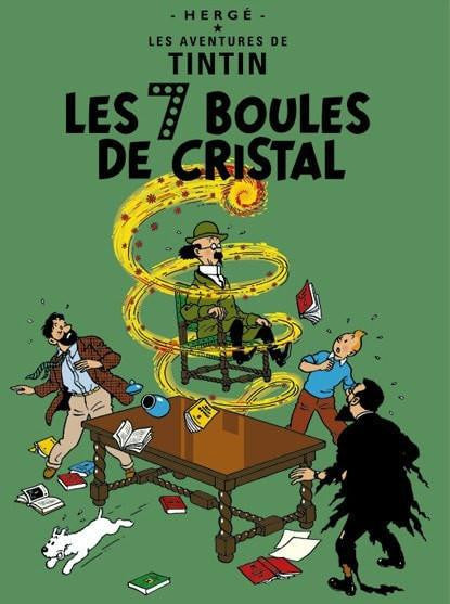 The Adventures of Tintin: Les 7 Boules de Cristal Poster in French. 50x70cm