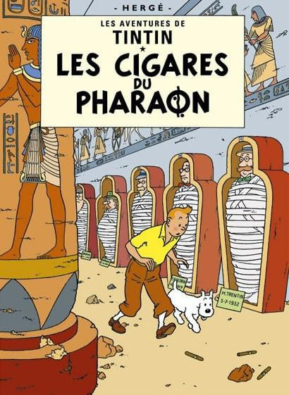 Moulinsart Tintin The Adventures of Tintin: Les Cigares du Pharaoh Poster in French. 50x70cm