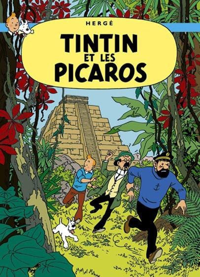 The Adventures of Tintin: Tintin et Les Picaros Poster in French. 50x70cm