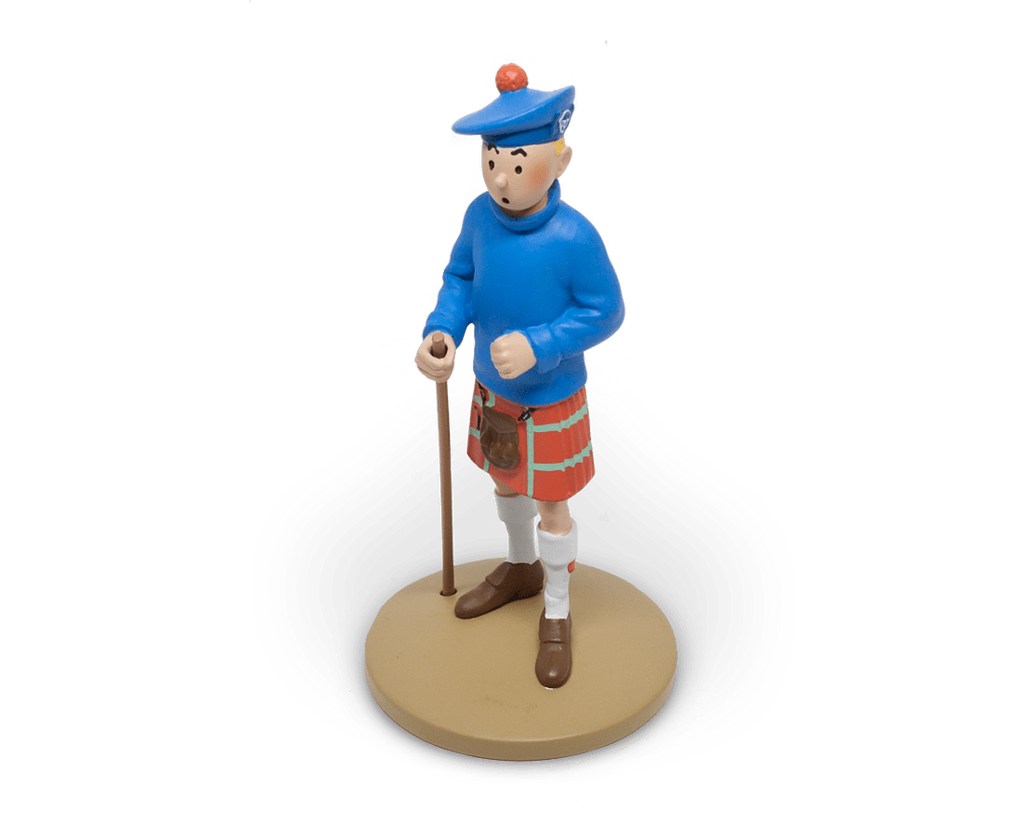 Moulinsart Tintin Tintin in his kilt resin figurine