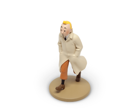Tintin in his trench resin figurine
